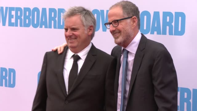bob fisher and rob greenberg at the premiere of lionsgate and pantelion film's overboard at regency village theatre on april 30 2018 in westwood... - rob greenberg stock videos and b-roll footage
