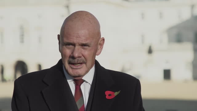 bob gamble of the royal british legion urging people to donate and download poppies for remembrance sunday during the coronavirus crisis - remembrance sunday stock videos & royalty-free footage
