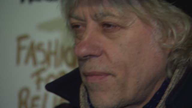 stockvideo's en b-roll-footage met bob geldof at fashion for relief charity fashion show interviews at somerset house on february 19 2015 in london england - bob geldof