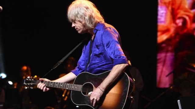 stockvideo's en b-roll-footage met bob geldof performs onstage during the rainforest fund 30th anniversary benefit concert presents 'we'll be together again' at beacon theatre on... - bob geldof