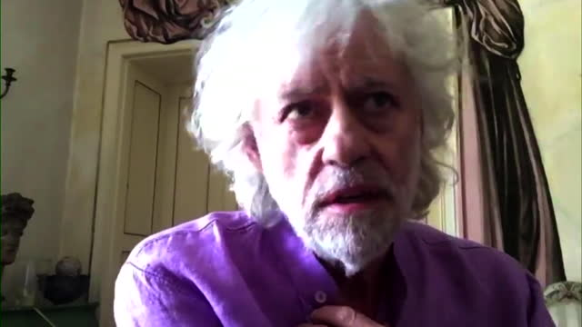 """bob geldof saying the decision to temporarily halt foreign aid is """"a political misfiring"""" - decisions stock videos & royalty-free footage"""