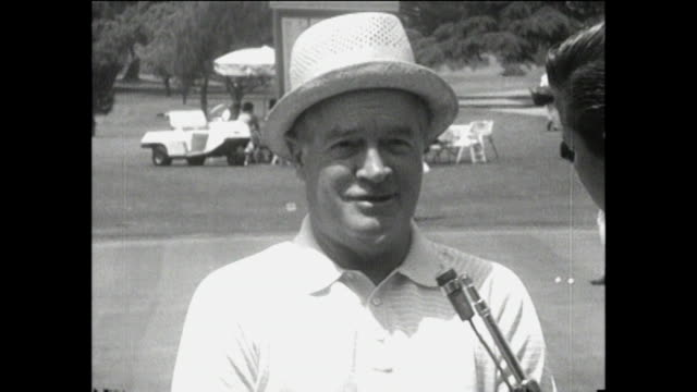 Bob Hope INTERVIEW Bob Hope Invitational Golf Tournament