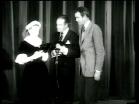 bob hope presents awards to bette davis and jimmy stewart at the look magazine awards in hollywood - hollywood california stock videos & royalty-free footage