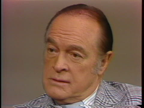 bob hope speaks about having jokes for almost every celebrity over the years. - bob hope komiker stock-videos und b-roll-filmmaterial