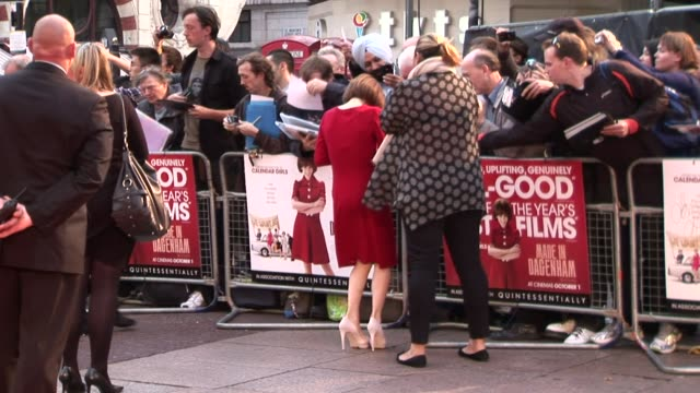 bob hoskins and sally hawkins at the made in dagenham world premiere at london england - sally hawkins stock videos & royalty-free footage