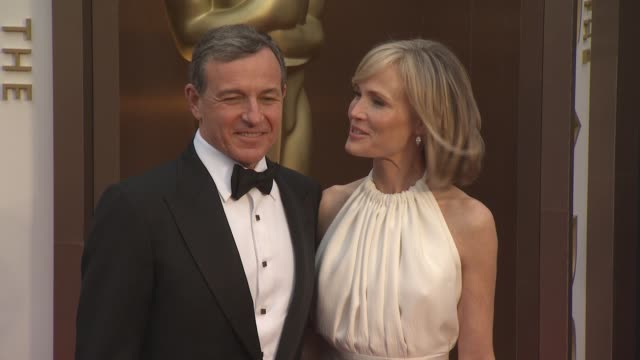 bob iger and willow bay - 86th annual academy awards - arrivals at hollywood & highland center on march 02, 2014 in hollywood, california. - hollywood and highland center stock videos & royalty-free footage
