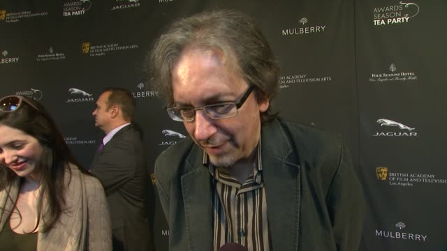 interview bob nelson on the event at bafta la 2014 awards season tea party at four seasons hotel los angeles at beverly hills on in beverly hills... - season 11 stock videos and b-roll footage
