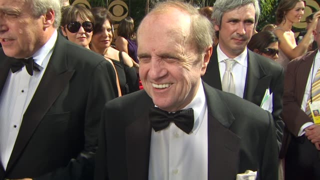bob newhart on being nominated, experiencing the emmys, who he's rooting for. at the 61st annual primetime emmy awards - arrivals at los angeles ca. - ボブ ニューハート点の映像素材/bロール