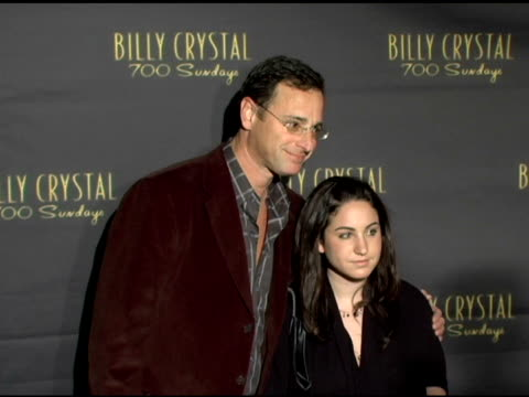 bob saget and daughter at the los angeles opening night of the tony award winning broadway show billy crystal '700 sundays' at the wilshire theatre... - broadway show stock videos and b-roll footage