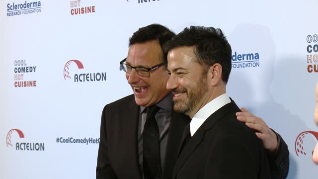 Bob Saget and Jimmy Kimmel at the Cool Comedy Hot Cuisine 30th Annual Benefit For The Scleroderma Research Foundation at the Beverly Wilshire Four...