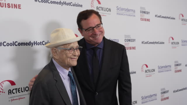 bob saget and norman lear at scleroderma research foundation's cool comedy hot cuisine at the beverly wilshire four seasons hotel on april 25 2019 in... - norman lear stock videos and b-roll footage