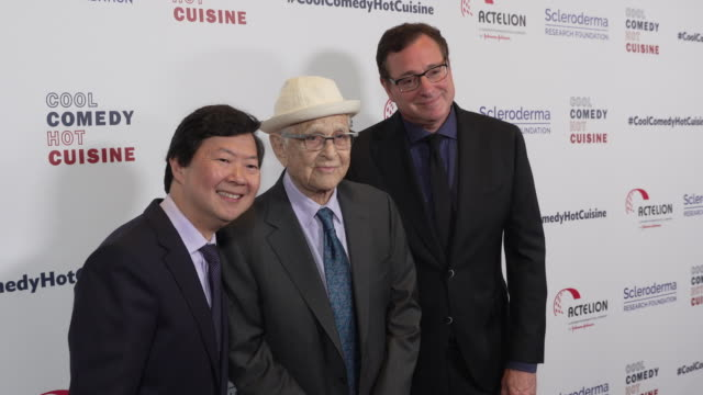 bob saget ken jeong and norman lear at scleroderma research foundation's cool comedy hot cuisine at the beverly wilshire four seasons hotel on april... - norman lear stock videos and b-roll footage