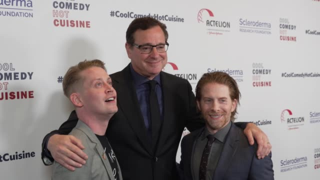 bob saget, macaulay culkin and seth green at scleroderma research foundation's cool comedy - hot cuisine at the beverly wilshire four seasons hotel... - four seasons hotel stock videos & royalty-free footage