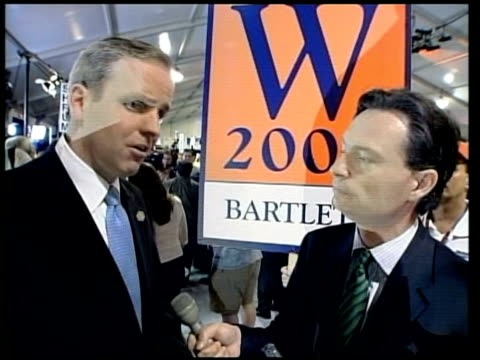 bob shrum speaking to press sot talks of kerry winning three straight debates cms side dan bartlett interview sot this is going to be right down to... - united states presidential election stock videos & royalty-free footage