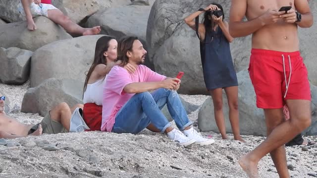 bob sinclar and new girlfriend galina enjoy the sunset at shell beach in st barthelemy saint barthelemy, france on monday december 21, 2020 - french overseas territory stock videos & royalty-free footage