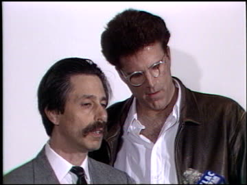 bob sulnick at the ted danson - woody harrelson oil spill press conference at paramount lot in hollywood, california on april 1, 1989. - woody harrelson stock videos & royalty-free footage