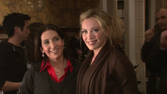 bobbi brown and hilary duff at the mercedes-benz fashion week fall 2009 - heart truth's red dress collection - backstage at new york ny. - mercedes benz fashion week stock videos & royalty-free footage