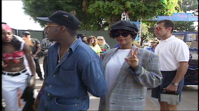 Bobby Brown and Whitney Houston Arriving to VMA Rehearsals in Los Angeles California