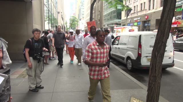 Bobby Brown walking with New Edition band members outside of the TODAY show in Rockefeller Center in Celebrity Sightings in New York