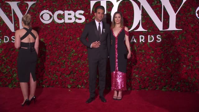 bobby cannavale and rose byrne at 2016 tony awards red carpet at the beacon theatre on june 12 2016 in new york city - 70th annual tony awards stock videos and b-roll footage