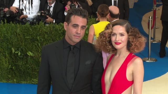 bobby cannavale and rose byrne at rei kawakubo/comme des garcons art of the inbetween costume institute gala arrivals at the metropolitan museum of... - rose byrne stock videos and b-roll footage
