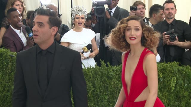 bobby cannavale rose byrne at rei kawakubo/comme des garcons art of the inbetween costume institute gala arrivals at the metropolitan museum of art... - rose byrne stock videos and b-roll footage