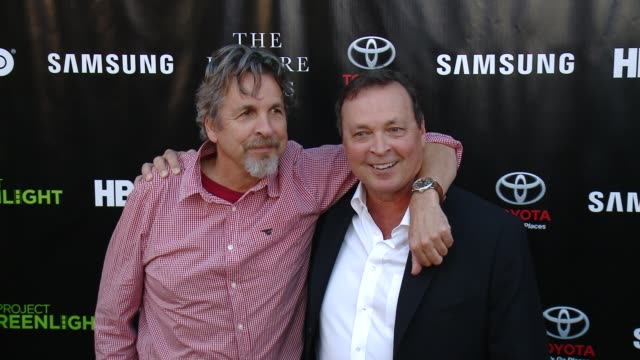 bobby farrelly and peter farrelly at matt damon ben affleck adaptive studios and hbo present the project greenlight season 4 winning film the leisure... - season 4 stock videos and b-roll footage