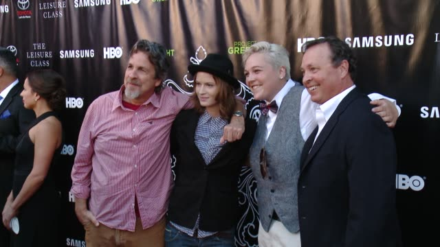 Bobby Farrelly Peter Farrelly Kelsey Grace Chavarria and AB Farrelly at Matt Damon Ben Affleck Adaptive Studios And HBO Present The Project...