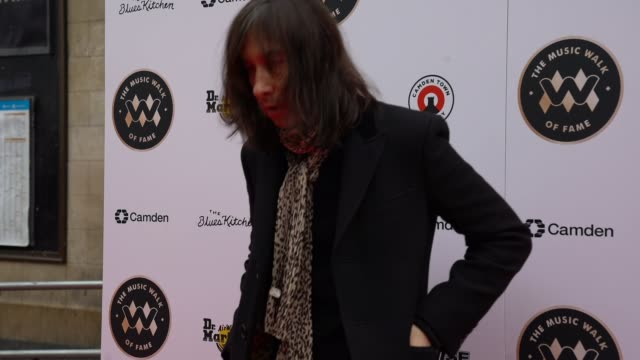 bobby gillespie at the founding stone unveiling for music walk of fame on november 19, 2019 in london, england - fame stock videos & royalty-free footage