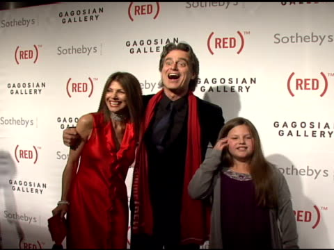 Bobby Shriver and guests at the Bono and Damien Hirst Paint the Town Red For Aids In Africa The Auction at Sotheby's in New York New York on February...