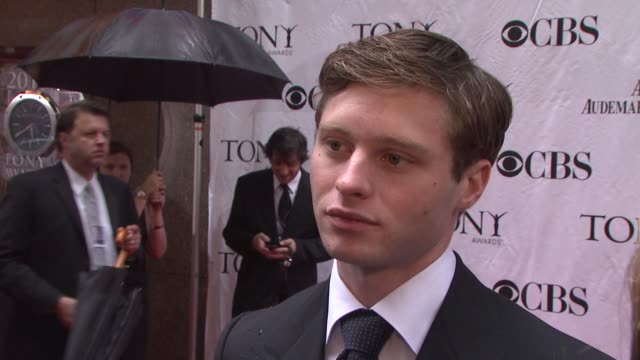 Bobby Steggert on being nominated tonight the energy at the Tonys what he's most excited about Says he is carrying a flask in his pocket with some...