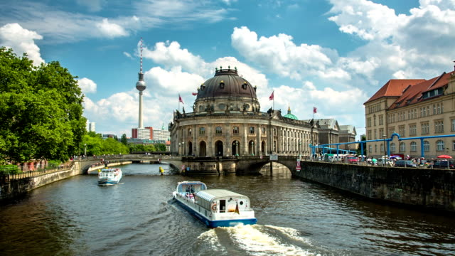 bode museum berlin germany - alexanderplatz stock videos & royalty-free footage