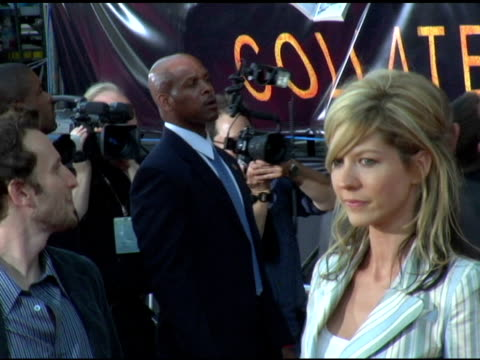 bodhi elfman and jenna elfman at the 'collateral' los angeles premiere at the orpheum theatre in los angeles, california on august 2, 2004. - jenna elfman stock videos & royalty-free footage