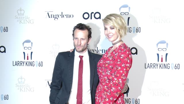 bodhi elfman, jenna elfman at larry king's 60th broadcasting anniversary in los angeles, ca 5/1/17 - bodhi elfman stock videos & royalty-free footage