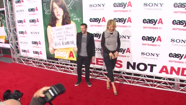 bodhi elfman, jenna elfman at the 'easy a' premiere at los angeles ca. - bodhi elfman stock videos & royalty-free footage