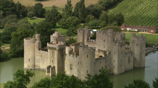 bodiam castle - sussex stock videos and b-roll footage