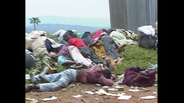 bodies lying on side of ride in kigali during rwanda civil war and genocide 1994 - genocide stock videos & royalty-free footage