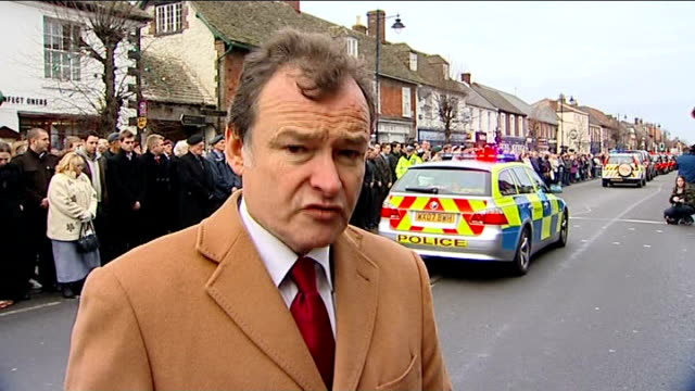 bodies of british soldiers killed in afghanistan returned home reporter to camera vox pops wootton bassett residents military veterans saluting as... - saluting stock videos and b-roll footage
