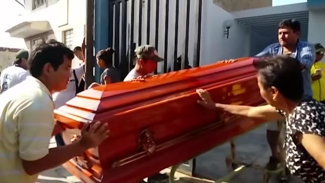 bodies of ecuadoran football fans who died in a bus accident in peru are sent back to ecuador - traffic accident stock videos & royalty-free footage