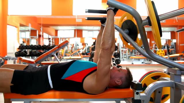 body builder - bench press - bench press stock videos & royalty-free footage