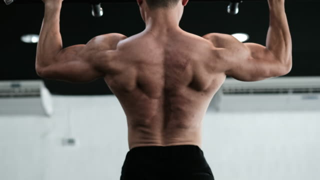 body builder - chins up - chin ups stock videos and b-roll footage