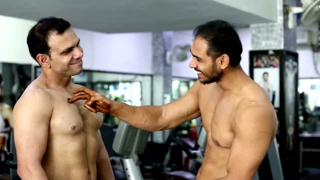 body builder in the gym - macho stock videos & royalty-free footage