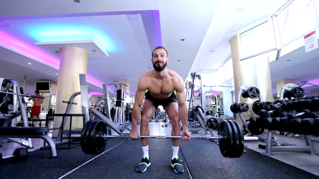 body builder performing heavy dead lift - weight training stock videos & royalty-free footage