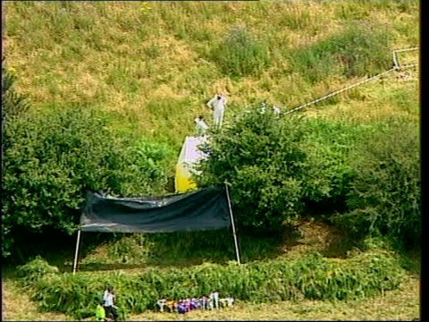 body of missing schoolgirl sarah payne found: police launch murder inquiry; england: west sussex: pulborough: ext lss michael payne & sara payne... - west sussex stock videos & royalty-free footage