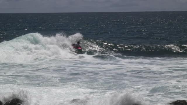 vídeos y material grabado en eventos de stock de bodyboarding 2-hd - territorios franceses de ultramar
