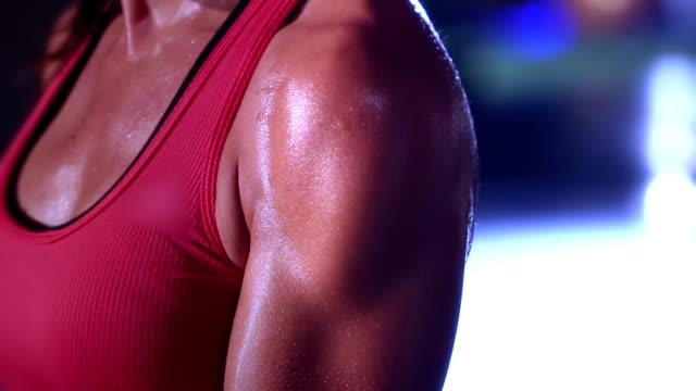 bodybuilder exercising - human skin stock videos & royalty-free footage