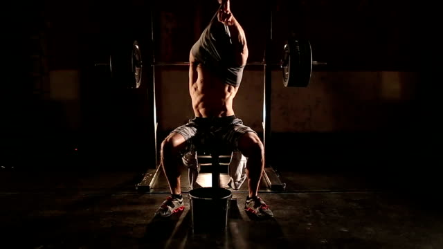 bodybuilder in gym - body building stock videos & royalty-free footage
