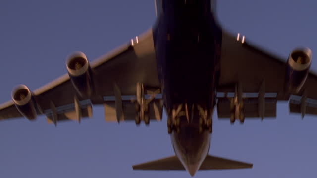 boeing 747 over camera - engine stock videos & royalty-free footage