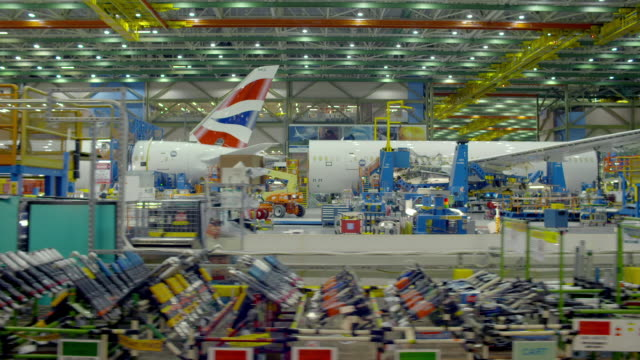boeing aircraft production - film montage stock videos & royalty-free footage
