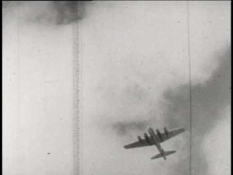 boeing b-17 drones fly through atomic mushroom clouds during the able day tests of operation crossroads. - bikini atoll stock videos & royalty-free footage